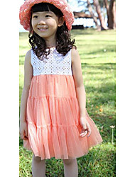 Girl's Going out Solid DressRayon Summer Pink