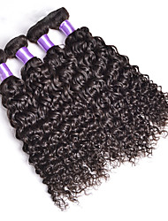 Malaysian Deep Wave Curly Malaysian Hair Weave 4Pc Bundles Unprocessed Human Hair Weaves Natural Color