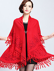 Women's Wrap Shawls Sleeveless Imitation Cashmere Wedding / Party/Evening Shawl Collar 42cm Tassels Clasp