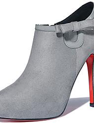 Черный / Серый-Женский-Для офиса / На каждый день-Мех-На шпильке-На каблуках-Обувь на каблуках