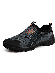 Atlético primavera sapatos masculinos / cair tecido conforto casual calcanhar plana deslizamento-na sapatilha preta / marrom / verde /
