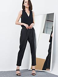 c + impressionner solide / rayé noir loose / jambe large des femmes pantsstreet chics