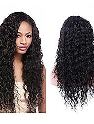 evawigs имеющиеся на складе 18-26inch вьющимися парик фронта шнурка&у части парик парик 100% бразильское человеческих волос для