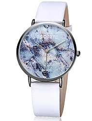 Women's Fashion Watch Wrist watch / Quartz Leather Band Cool Casual Black White Grey Khaki