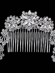 Bardian Three Flowers Rhinestone Flower Comb