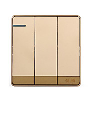 Champagne Gold Three Open Double Control Wall Switch