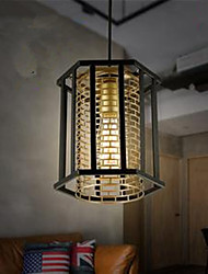 Retro Minimalist Restaurants Aisle American Industrial Iron Chandelier