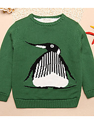Girl's Embroidered Sweater & CardiganCotton Winter / Spring / Fall Green / Red