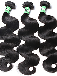 3 Pièces Ondulation naturelle Tissages de cheveux humains Cheveux Brésiliens 95-100g/bundle 20-24inch Extensions de cheveux humains