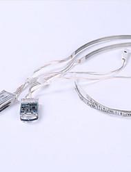 0.5m charge de la batterie led string 24LED noël chaussure éclairage extérieur voiture LED flexible bandes lumineuses