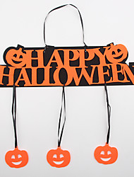 Halloween Hanged Adorn Door Window Decoration Word Happy Halloween Pumpkin Shaped Pendant