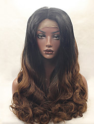 Glueless Synthetic Lace Front Wig 1b/30 Color Cheap Long Curly Top Quality Wigs