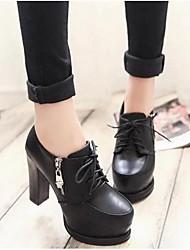 -Для женщин-Для прогулок-Полиуретан-На толстом каблуке Блочная пятка-Ботинки-Ботинки