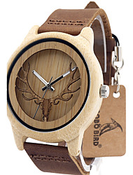 Vintage Wooden Watch women Hollow deer Leather Japan quartz watch relogio feminino Gift idea