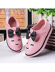 Flat Heel Bowknot Pink / Red / White Walking