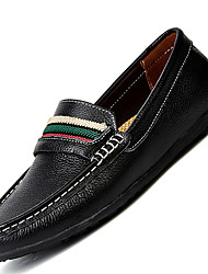 Men's Loafers & Slip-Ons Comfort Leather Casual Flat Heel Lace-up Black / Blue / Brown / White Others