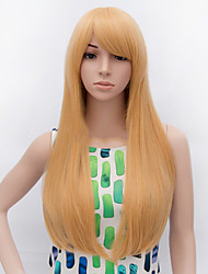 Fashion Long Straight  Wig Blonde Color Synthetic Cosplay African American Wig
