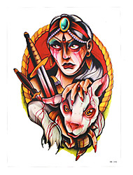 1pc Water Transfer Body Arm Art Temporary Tattoo Sticker Women Men Blood Sheep Indian Hunter Tattoo HB-346