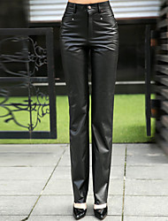 Genuine Lambskin Leather Sexy Trousers for Women Genuien Leather Pant 5520