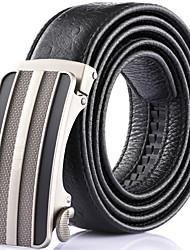 Katusi New Mens Ratchet Belt Fashion Business Casual Style Genuine Leather 3.5cm Width kts-4