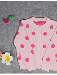 Girl's Casual/Daily Polka Dot Blouse / Sweater & CardiganCotton Winter Black / Pink