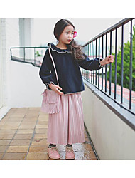 Girl's Holiday Striped PantsPolyester Fall Pink