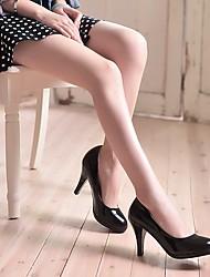 Damen-High Heels-Lässig-PU-Stöckelabsatz-Komfort-Schwarz / Rot / Weiß