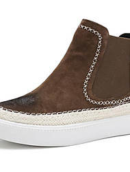 Women's Sneakers Spring/Summer / Fall / Winter Combat Boots Fur Athletic / Casual Flat Heel Black / Khaki Sneaker