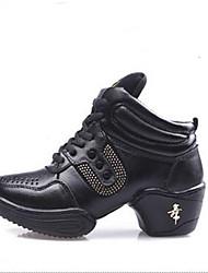 le scarpe da tennis delle donne la primavera / autunno pelle punta chiusa tallone piano / casuale esterno sneaker allacciata nero