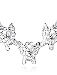 May Polly Fashion Silver Butterfly Necklace