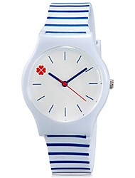 Kids' Wrist watch Colorful Quartz Plastic Band Candy color Cool Casual Blue