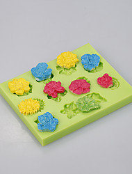 Flower silicone baking mold big rose cake pan decoration tools Color Random