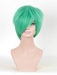 pelucas sintéticas cosplay de Europa y América del color verde de las mujeres rizadas de moda