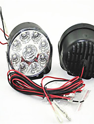 Daytime Running Lights Round 9LED Daytime Running Light Car Fog Lights Universal LED Retrofit