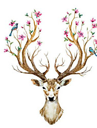 Xmas Reindeer Removable Mural Wall Stickers Decals Vinyl Nursery Kids Room Decor