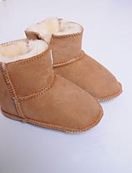 Unisex-Flache Schuhe-Lässig-Leder-Flacher Absatz-Flache Schuhe-Blau