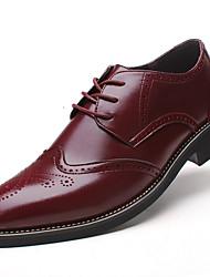 Для мужчин обувь Кожа Весна Лето Осень Зима Баллок обувь Формальная обувь Удобная обувь Туфли на шнуровке Шнуровка Назначение Свадьба