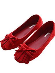 Women Flats Shoes Square Toe Slip-On Flat Dance shoes