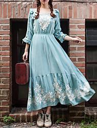 Sagetech®Women's Vintage Embroidery Elegent Long Dress (More Colors)