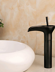 style antique finition bronze huile frotté laiton cascade lavabo robinet