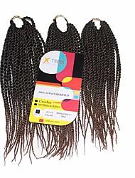 Senegal Twist Black Auburn 1b/30 Synthetic Hair Braids 12inch Kanekalon 81 Strands 125g  Multipal Pack for Full Heads