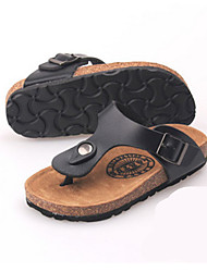 Girl's Slippers & Flip-Flops Summer Slippers PU Casual Flat Heel Buckle Black / Pink / Red / White Others