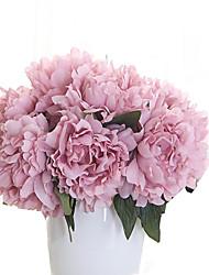 1 1 Rama Poliéster Peonías Flor de Mesa Flores Artificiales 27cm