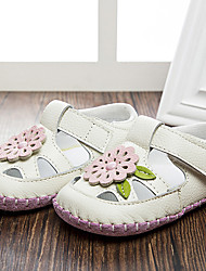 Unisex-Flache Schuhe-Lässig-Leder-Flacher Absatz-Flache Schuhe-Weiß