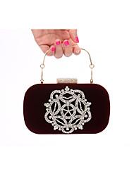 Women Velvet Formal / Event/Party / Wedding Evening Bag/Velvet Diamonds Bag/Purse/Clutch