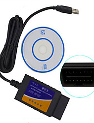 USB ELM327 OBD vente massive d'instruments de test de diagnostic de voiture de haute qualité