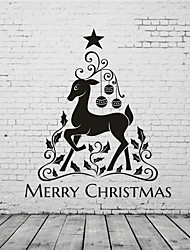 AYA DIY Wall Stickers Wall Decals Merry Christmas Stickers 55*64cm