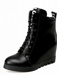 Feminino-Botas-Saltos / Plataforma / Coturno / Inovador / Botas de Cowboy / Botas de Neve / Botas Cano Curto / Arrendondado / Botas