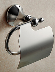 Mirror Polished Fishinging Bathroom Accessories Solid Brass Material Toilet Paper Holders