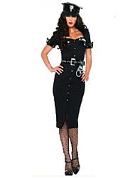 Costumes Uniformes Halloween Noir Couleur Pleine Térylène Robe / Plus d'accessoires